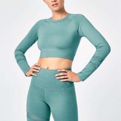 Bluza scurta SportFX Gabby Allen cu Maneca Lunga verde