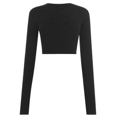 Bluza scurta TWENTY cu Maneca Lunga Active negru