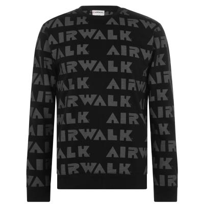 Bluza de trening Airwalk Neck pentru Barbati repeat negru