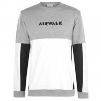 Bluza de trening Airwalk Panel pentru Barbati gri alb