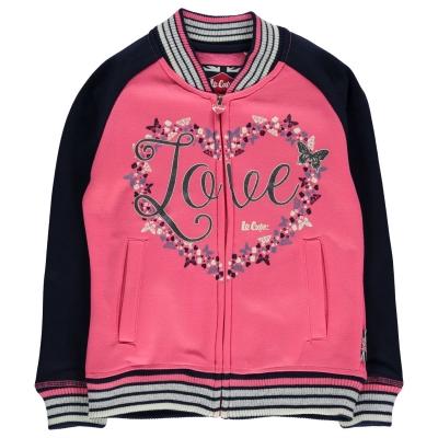 Jacheta Lee Cooper Glitzy Baseball pentru fete roz bleumarin