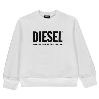 Bluza de trening Diesel Core Logo alb