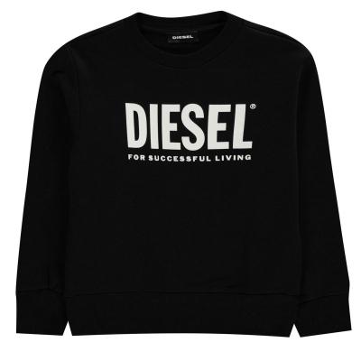 Bluza de trening Diesel Core Logo negru