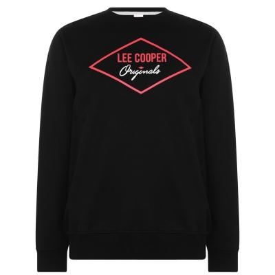Bluze cu guler rotund Lee Cooper Diamond pentru Barbati negru