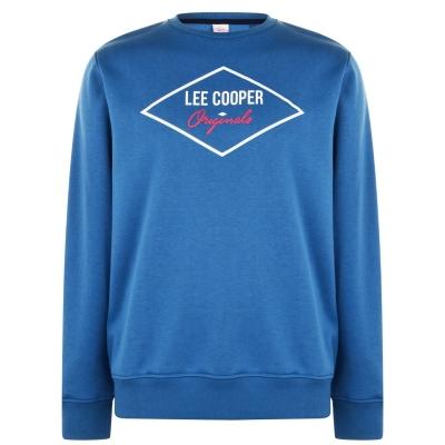 Bluze cu guler rotund Lee Cooper Diamond pentru Barbati vintage albastru