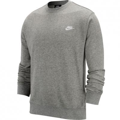 Bluza sport Nike NSW Club Crew FT gri BV2666 063 pentru Barbati