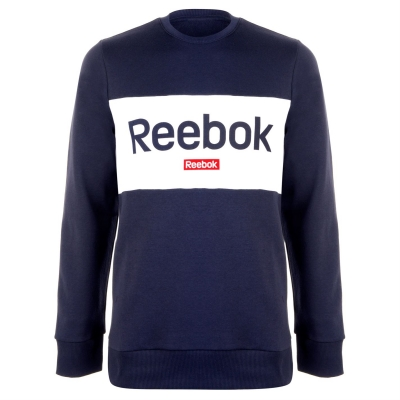 Bluza sport Reebok Big Logo pentru Barbati heritage bleumarin