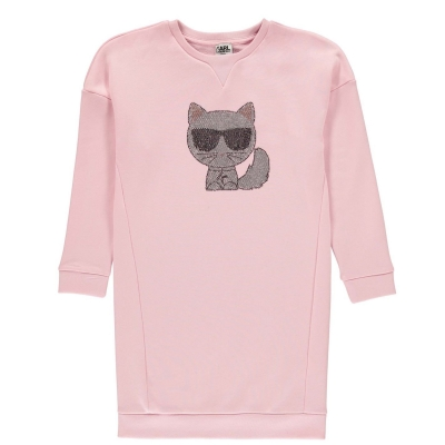 Bluza de trening Rochie Karl Lagerfeld Cat roz 46b