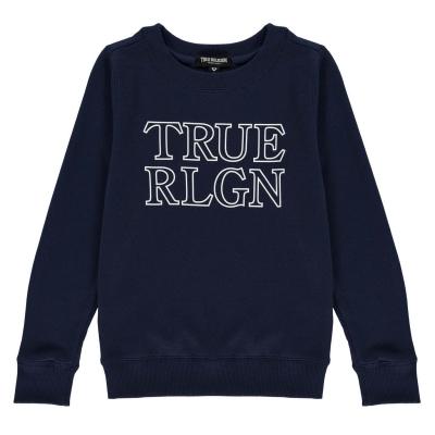 Bluza sport True Religion True Chest Logo pentru copii bleumarin