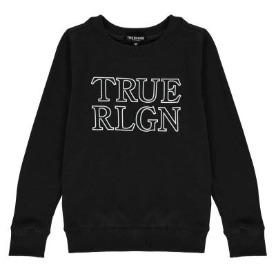 Bluza sport True Religion True Chest Logo pentru copii negru