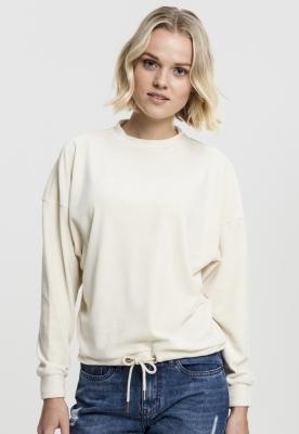 Bluza tip catifea supradimensionat pentru Femei bej Urban Classics