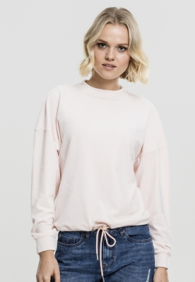 Bluza tip catifea supradimensionat pentru Femei roz Urban Classics