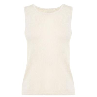 Bluza tricot Selected fara maneci pentru Femei bej
