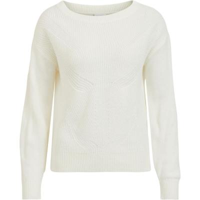 Bluza tricot Vila Vilou alb