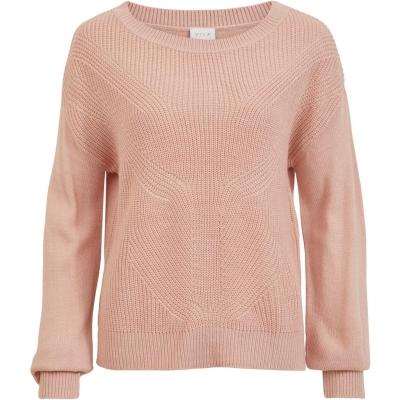 Bluza tricot Vila Vilou roz