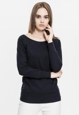 Bluza urban cu guler rotund negru Urban Classics
