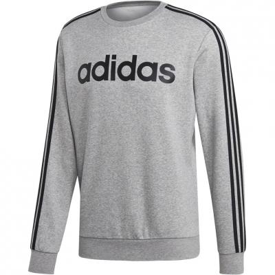 Bluze Bluza sport Bluza maneca lunga Adidas Essentials 3 Stripes gri EI4902