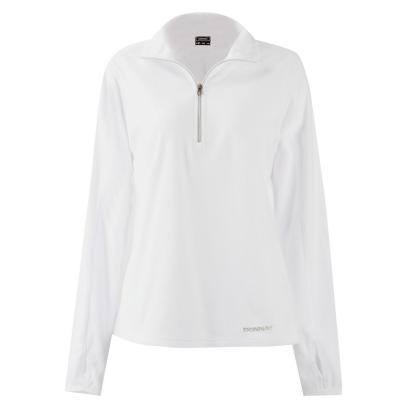 Bluze cu fermoar Donnay Quarter Top pentru Femei alb
