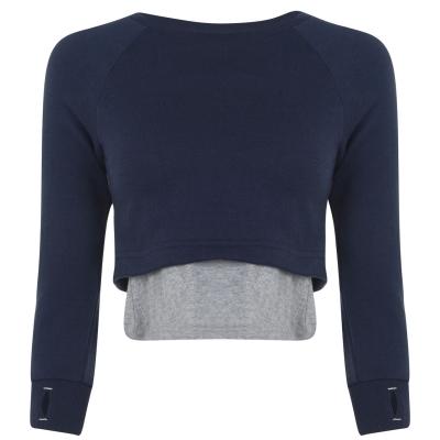 Bluze cu guler rotund Bench Danceable mood albastru