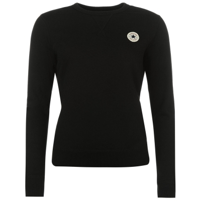 Bluze cu guler rotund Converse Basic negru