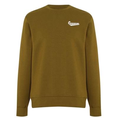 Bluze cu guler rotund Converse Nova pentru Barbati inchis verde