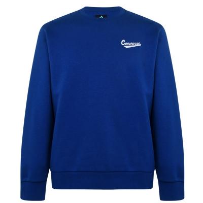 Bluze cu guler rotund Converse Nova pentru Barbati rush albastru