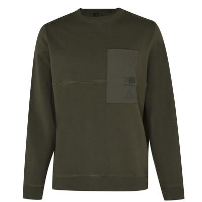 Bluze cu guler rotund Karrimor Karrimor Eco Era pentru Barbati kaki