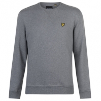 Bluze cu guler rotund Lyle and Scott gri marl