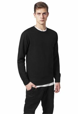 Bluze cu guler rotund matlasate negru Urban Classics