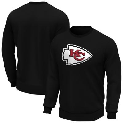 Bluze cu guler rotund NFL Logo pentru Barbati rosu