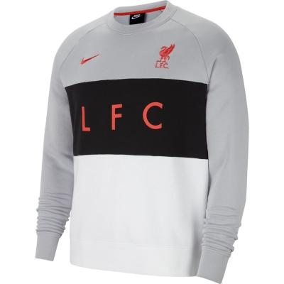Bluze cu guler rotund Nike Sportswear Liverpool FC pentru Barbati wolf gri