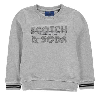 Bluze cu guler rotund Scotch and Soda gri mel