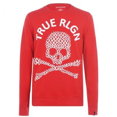 Bluze cu guler rotund True Religion Skull rosu