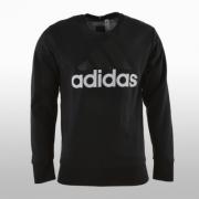 Bluza neagra de trening  adidas Essentials Linear AOP Crew French Terry Barbati