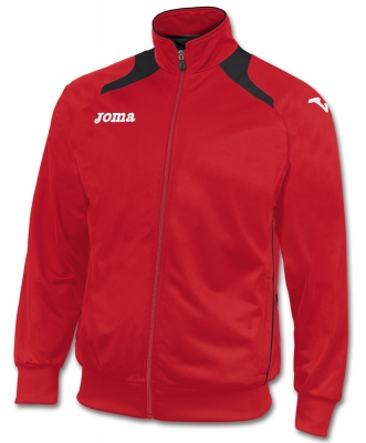 Bluze de trening Joma Poly-tricot Champion II Man rosu-negr negru
