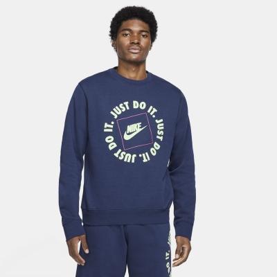 Bluze Nike Sportswear JDI Crew pentru Barbati bleumarin