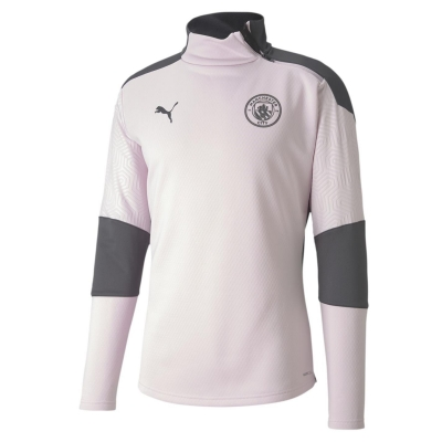 Bluze cu fermoar Puma Manchester City FC antrenament pentru Barbati lila snow