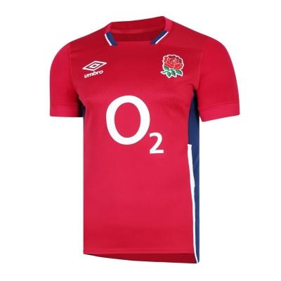 Bluze rugby Umbro Anglia Alternate Pro 2021 2022 rosu albastru