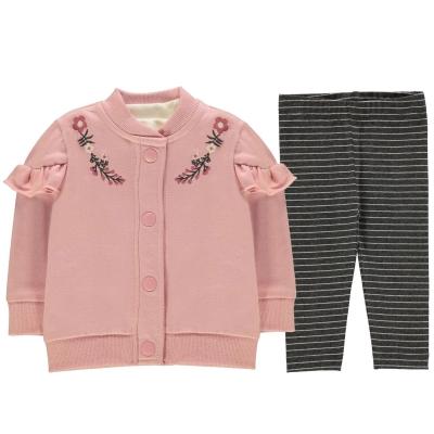 Bluze Set bebelusi Crafted 3 Piece pentru fete roz frill