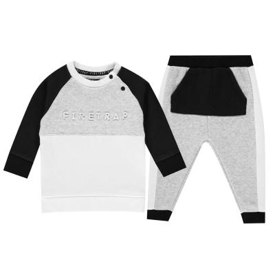 Bluze Set bebelusi Firetrap cu captuseala pentru baieti negru gri