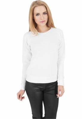 Bluze sport dama stripe alb Urban Classics