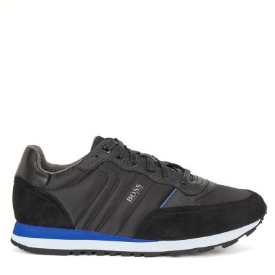 Adidasi sport Boss Parkour Suede negru albastru