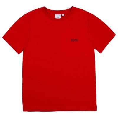 Tricou cu imprimeu Boss Small rosu 97e