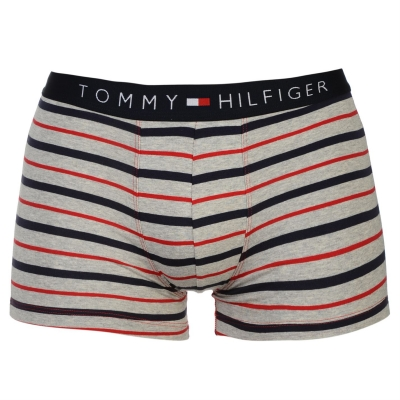 Boxeri cu dungi Tommy Hilfiger gri rosu bleumarin