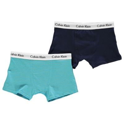 Boxeri Set 2 Calvin Klein sky stripe bleumarin