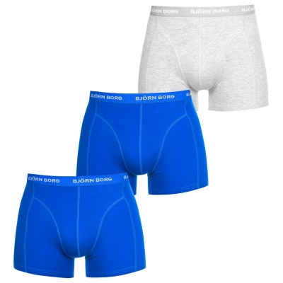 Boxeri Set de 3 Bjorn Borg Borg Sammy Sol albastru