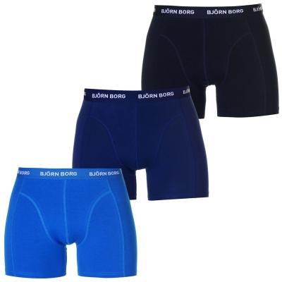 Boxeri Set de 3 Bjorn Borg Solid albastru multicolor