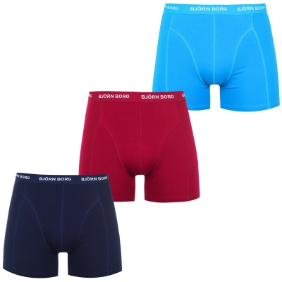 Boxeri Set de 3 Bjorn Borg Tonal albastru danube