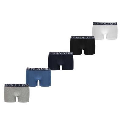 Boxeri US Polo Assn . albastru gri negru