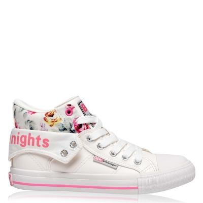 Adidasi inalti British Knights Roco Canvas pentru Femei alb floare